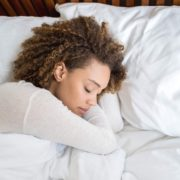woman deeply sleeping